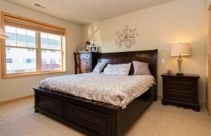 Spacious master bedroom with full bath
