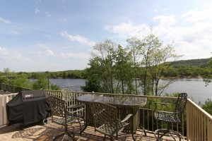 Shared Owner Deck Overlooking the WI River